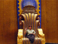 Andrea in King Neptune's throne